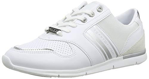 Tommy Hilfiger Damen METALLIC Lightweight Sneakers Sneaker, Weiß (White/Silver 0k5), 39 EU