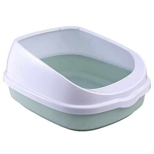Dasing Haustier Toilette Bett Pfanne Anti Splash Katzen Katzen Toilette Katze Hunde Schale mit Schaufel K?Tzchen Hund Saubere Toilette Startseite Kunststoff Sand Kasten Zubeh?R Blau