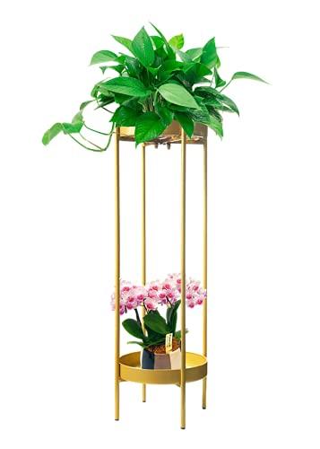 3-H Soporte Jardinera de Metal,Soporte para Plantas, Soporte para Macetas,Estante de para Plantas para Interior y Exterior para Maceteros Decorativos y Jardin Balcon(80cm)