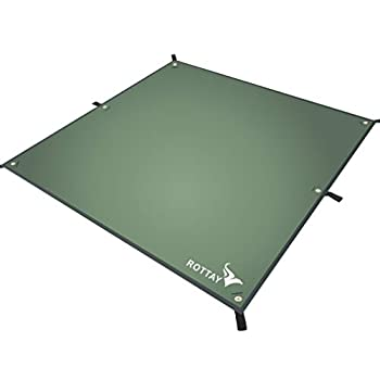 Rottay Waterproof Camping Tarp Multifunctional Tent Footprint for Camping Sunshade Hiking Survival Gear Lightweight and Backpacking Approved Multiple Colors and Size