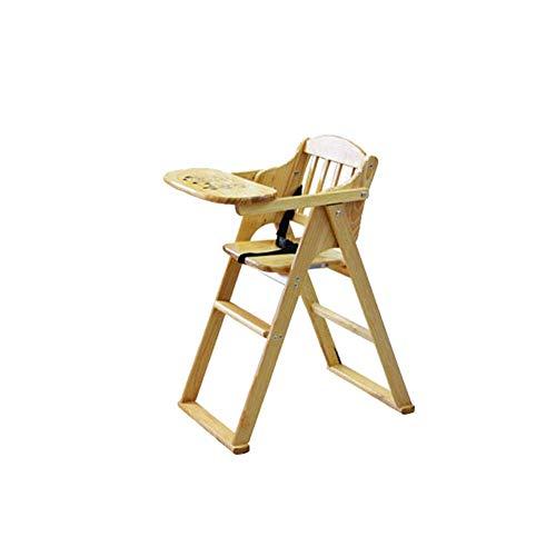 WWWWWWW-DENG barkruk van massief hout, multifunctioneel, opvouwbaar, veiligheidsgordel, draagbaar (kleur: Hout, maat: Large)