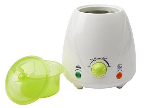 H+H BS 22 Mobiler Babykostwärmer (Stufenlos einstellbar, Weithalsflaschen, Optische Anzeige, Babyflaschenwärmer mit Warmhaltefunktion, Fläschchenwärmer für Auto und zu Hause)