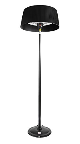 Firefly 2.1KW Freestanding Outdoor Patio Heater with Black Lampshade, Stand and Base