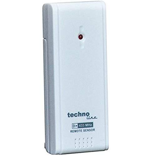 Technoline TX 960 TH Ersatz-Sender Außen-Sensor für WS 6449 WS 9490 (Weiss mit Batterien)