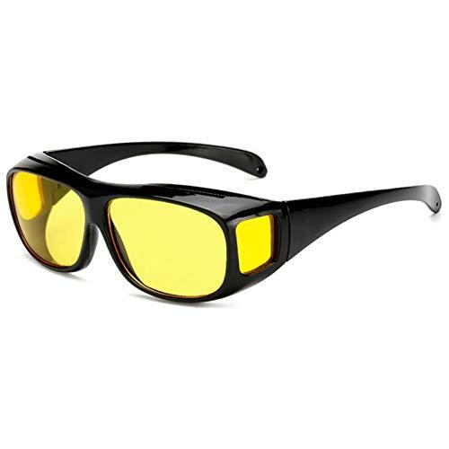 BAJSKD Gafas de Sol sobre Gafas Visores nocturnos Visera Gafas de Sol Amarillas Gafas de Conductor Hombre Tonos de Moda de Gran tamaño