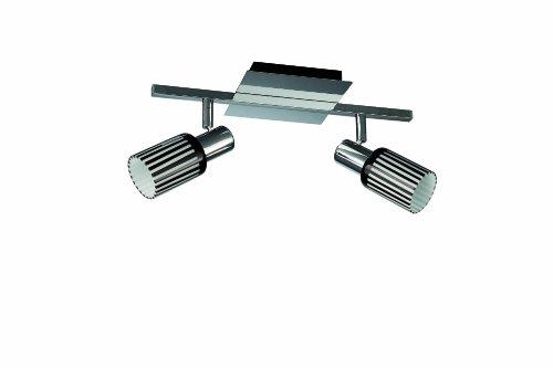 Massive 521021110 Oberon Forme Spéciale Plafonnier 2 x 12 W E14 230 V Chrome