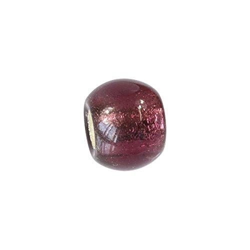 Carlo BIAGI Bead 925 Silber Murano Glas lila Armband Anhänger BBGMB02