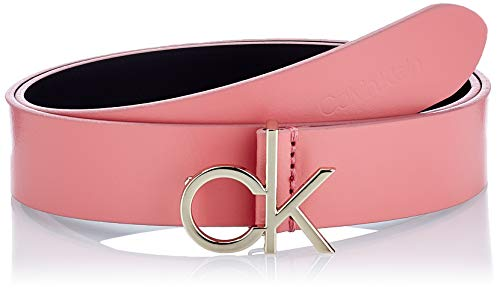Calvin Klein CK Logo Belt 30MM Cintura, Rosa Sfumata, 90 cm Donna