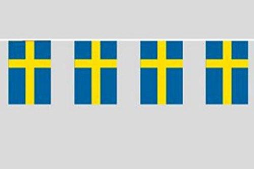DeCoArt… 1 Fahnenkette Schweden 5 m lang Fahnengirlande