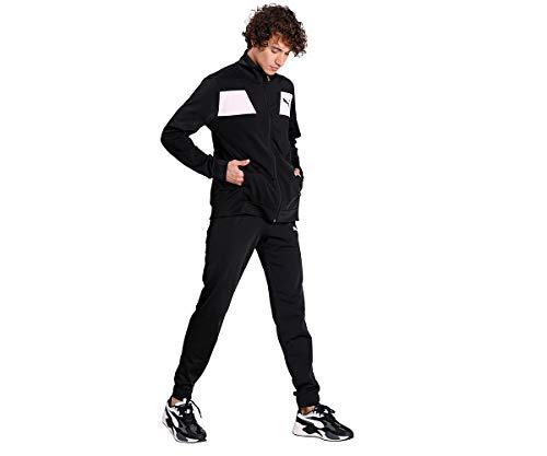 PUMA Techstripe Tricot Suit CL Chándal, Hombre, Negro, S
