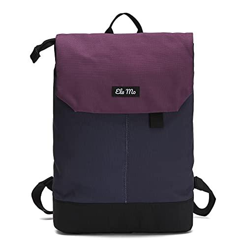 Ela Mo Rucksack Damen - Schön u. Durchdacht - Daypack mit Laptopfach & Anti Diebstahl Tasche für Ausflüge, Uni, Schule u. Büro (Berry)