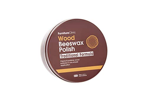 Furniture Clinic Traditional Beeswax Polish for Wood & Furniture | 200ml of Wax for All Wood Types & Colors - Oak, Teak, Dark and Light Wood - Protect and Enhance The Shine - 6.8 Fl Oz