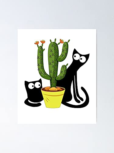 Cacti Cat Poster - for Quote Print, Affordable Wall Art Printable, Gallery Wall, Family, Friends, Brother, Sister, Kids.