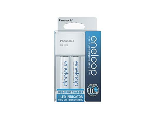 Panasonic Eneloop compact micro USB charger for 2 AA/AAA Ni-MH batteries,...