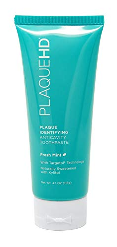 Plaque HD Plaque Identifying Toothpaste   Plaque Disclosing Mint Toothpaste with Xylitol pH Balancing Ingredients for Healthy, Fresh Minty Breath   Gently Whitens Teeth, Reduces Inflammation