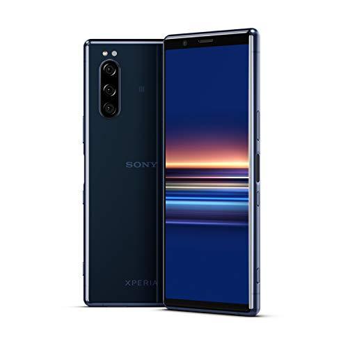 Sony Xperia 5 - Smartphone débloqué 4G (Ecran 21: 9 Cinemawide OLED de 6, 1' - 128 Go - Double SIM - Android Pie) - Bleu