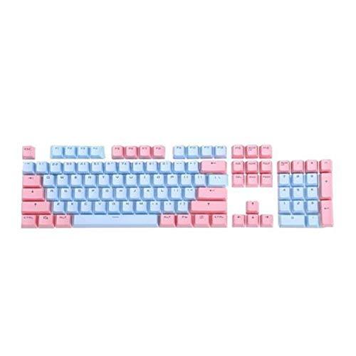 Mmbh 104 Piezas de Kit de reemplazo de backlito de Dos Colores Accesorios para el Kit de reemplazo para Cherry/Kailh/Gateron/Outemu Switch Teclado mecánico (Color : Pink Blue)