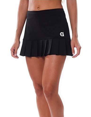 a40grados Sport & Style, Falda Flip Negra, Mujer, Tenis y Padel (Paddle)