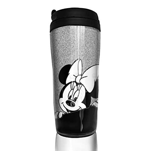 Taza de café con diseño de Mickey Minnie Mouse con diseño de dibujos animados, reutilizable, aislante, para bebidas frías y calientes, 350 ml