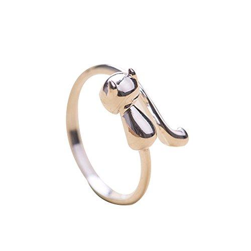 Qinlee Ringe Solitärring Bandring Öffnungsring Einstellbar Ringe Hochzeiten Bankette Jahrestag Party Schmuck Geschenk für Damen Mädchen