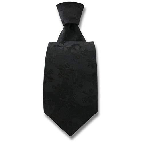 Robert Charles. Cravate. Valentina, Soie. Noir, Fantaisie. Fabriqué en Italie.