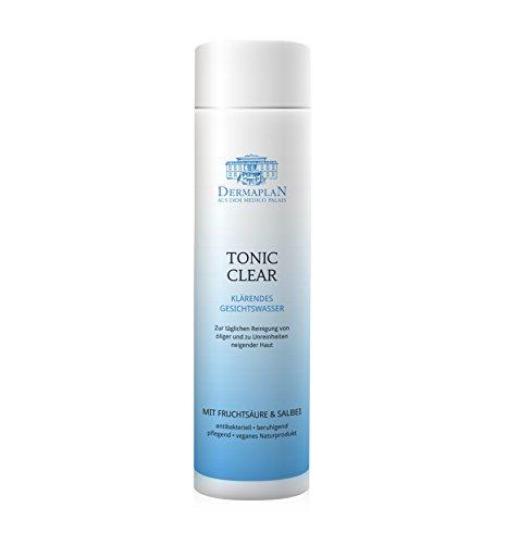 DERMAPLAN Tonic Clear | Gesichtswasser bei unreiner Haut mit Fruchtsäure | für Fettige und Ölige Haut | bei Akne | Veganes Naturprodukt, 200 ml