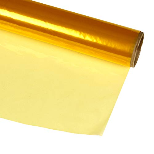 Hygloss Products, Inc Roll Cellophane Wrap for Crafts, Gifts, and Baskets 40 Inch x 100 Feet, 40-inches x 100-feet, Yellow