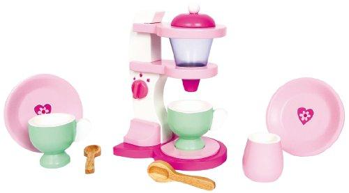 Small Foot 3106 Kaffeemaschine Emilia, Kinderküchen/-zubehör aus Holz in wunderschönen Pastelltönen