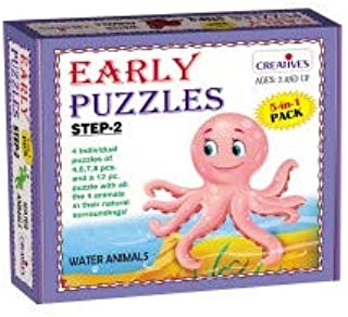 Creative Educational Early Puzzles Step II-Water Animals