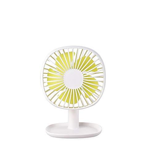 enioysun Ventilador eléctrico portátil Mini USB Fan de Carga Base de Escritorio Inicio Inicio Estudiante Dormitorio Cama de Noche Portátil Oficina de Escritorio Fan (Color : 2)