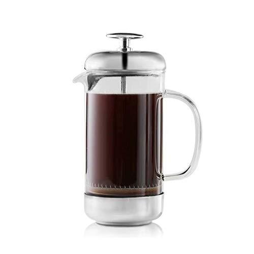 Yuqianjin Franse pers koffiemachine, (2 koppen/12 Oz) Duurzame gemakkelijk schoon koffie pot hittebestendige Borosilicate glas met bonen lepel + kopje borstel + koffie Cup