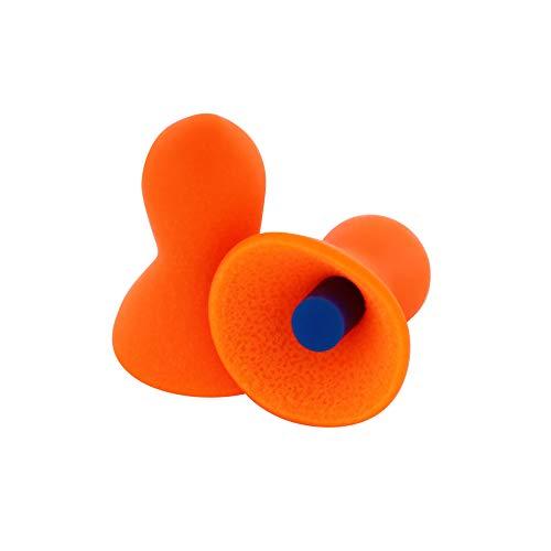 Honeywell Howard Leight by Quiet Reusable Earplugs, 100 Pairs (QD1), Orange