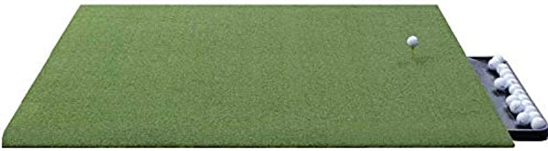 DURA-PRO Urethane Backed Wood Tee Golf Mat - Premium Turf Indoor/Outdoor Mat - Golf Stance Mat for Pros & Beginners w/Golf Accessories (Golf Tray + 3 Rubber Golf Tees)