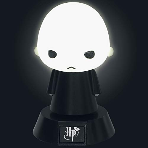 Harry Potter mini lamp Icon Light Voldemort zwart/grijs, bedrukt, van kunststof, in geschenkverpakking.