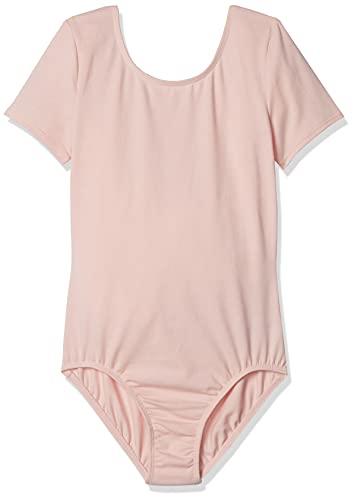 Amazon Essentials Short-Sleeve Dance Leotard Dresses, Satin Pink, 3T