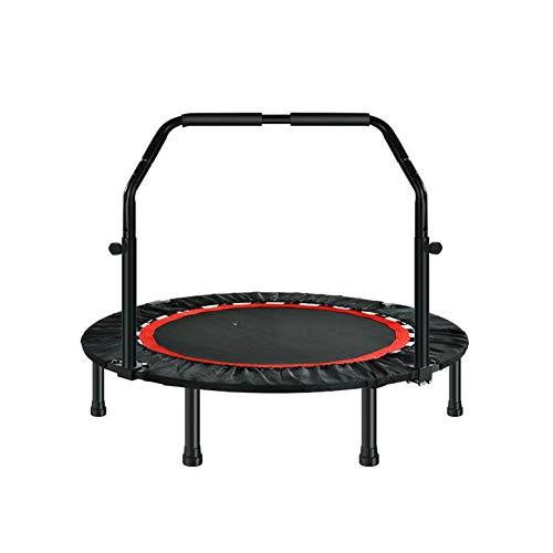 KKCD Plegable Trampolin Fitness, Adultos Silencioso Cubierta Al Aire Libre Camas Elásticas para Garden Ejercicio del Entrenamiento del Yoga,48 Inch (armrest Model)