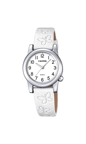 Calypso Mädchen Datum klassisch Quarz Uhr mit Leder Armband K5711/1