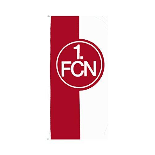 1. FC Nürnberg FCN Hissfahne Fahne Flagge 75 x 150cm rot-weiß Lizenzprodukt