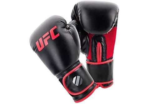 UFC Boxing Gloves Muay Thai Style Boxhandschuhe, Schwarz, 340,2 g (12 oz)