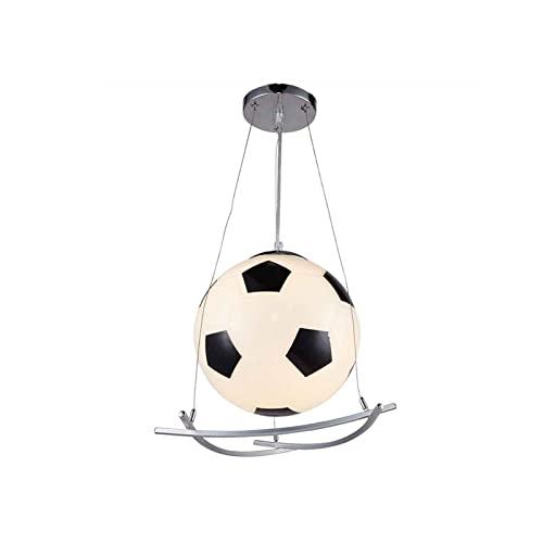 MUBAY Lámpara Colgante Creativa DIRIGIÓ Lámpara Colgante de Vidrio Fútbol de fútbol Luz de Techo Dormitorio Chandelier Gran Regalo for niños y Chicas Amigo 3 Cambio de Color