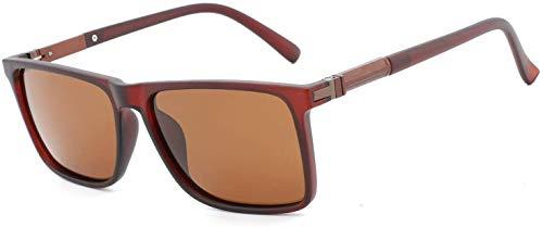 LEIXIN Squashbrille HDCRAFTER Marke 2018 Neue Aluminium-Magnesium-Mode Färbung Film Sonnenbrille Klassische polarisierte Sonnenbrille der Männer E015 Außen Brille (Color : D)