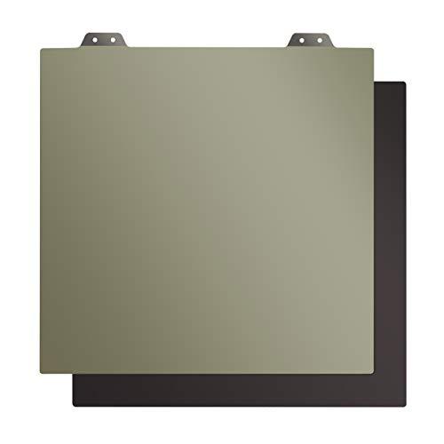 BCZAMD - Sistema de montaje flexible de 330 x 330 mm 3 en 1 con plataforma de acero para muelles con superficie de presión PEI + base magnética con adhesivo para Flsun Core-XY/Tronxy-X5S