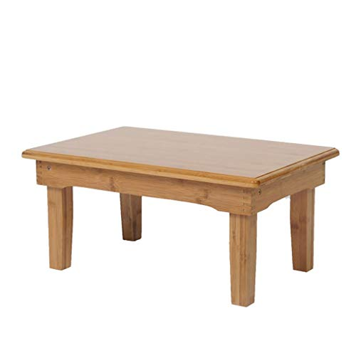 WXL Mesas Auxiliares Mesa pequeña y Plegable Moderna para el hogar Comedor sólido de Madera Cuadrada Tatami Mesa de Piso Mesa de Comedor pequeña Mesa de Centro Decoración (tamaño : 60 * 60 * 47cm)