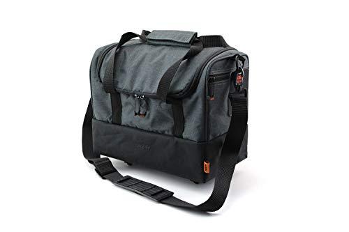 KTM Gepäckträger Fahrradtasche grau/schwarz mit Racktime Snap it Adapter
