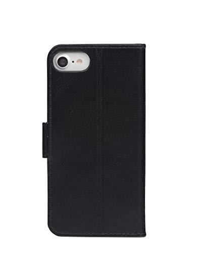 dbramante1928 - Copenhagen Slim Hülle für iPhone SE/8/7/6 - Klapphülle aus robustem, hochwertigem Leder - Mit Kartenfach und Standfunktion - Schwarz