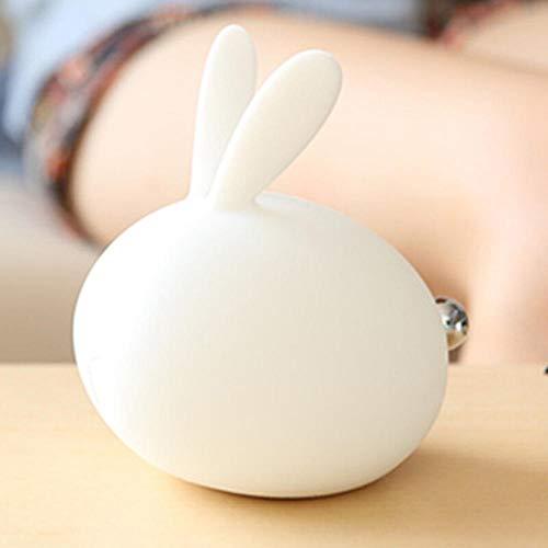 Meng Kaninchen Silikonlampe Nachtlicht Nachttisch Pat Licht Induktionslampe Welle Kinderbett Nachtschlaflampe