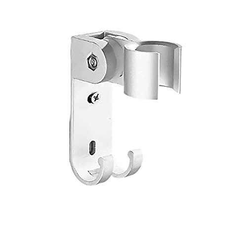 Soporte de cabezal de ducha con ganchos Soporte de ducha ajustable montado en la pared Soporte de cabezal de ducha de mano adhesivo fuerte Impermeable y en ángulo,Plata,punch