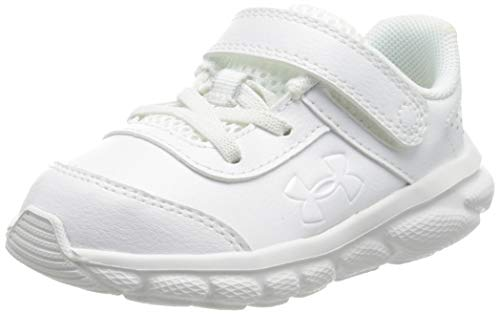 Under Armour Assert 8, Zapatillas para Correr de Carretera Niños, White/White/White (100), 26 EU