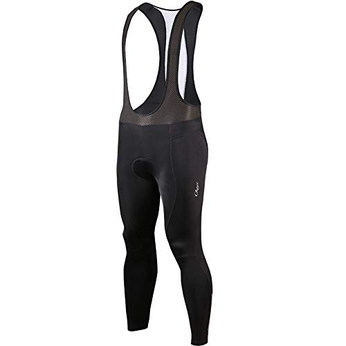 Long Men es Bike Bib Strumpfhosen, Breathable with 3D Seat Pad Bib Tights Pants Plus,XXL