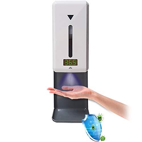 WOERD Dispensador Automático Alcohol Desinfectante Spray Gel Hidroalcoholico 1000ml con Termómetro,Spray/Espuma/Gel Dispensador Automático De Alcohol,diseño De Fuente Alimentación Dual